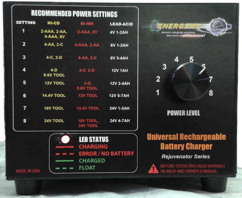 1AU Universal Battery Charger